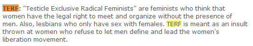 "From TERF blog, ""When Women Were Warriors"""
