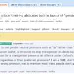 #TERFLogic: It's wrong to misgender gender critical TERFs