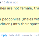 #TERFLogic: trans women are like pedophiles!