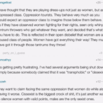 #TERFLogic: Trans women don't believe cis women are oppressed! Also, trans women are stealing all our oppression!