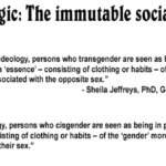 #TERFLogic: Silly trans handmaidens think social habits determine sex!!!! But seriously, it tots does for cis women. And intersex people.